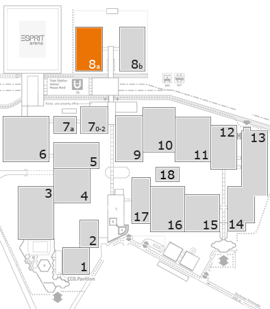 drupa 2016 fairground map: Hall 8a