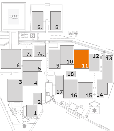 drupa 2016 fairground map: Hall 11