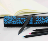 Personalized Laser Engraved Leather Pencil Roll