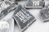 Personalization: laser engraving marble