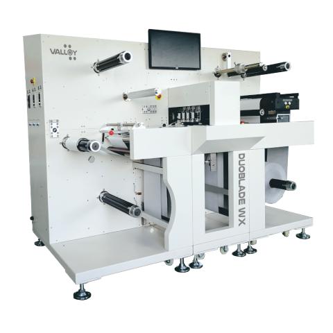 Hochwertige digitale Rolle-zu-Rolle-Etikettenschneidemaschine DUOBLADE WX