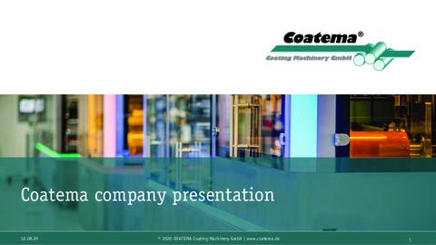 Coatema 2020 PPT Company presentation