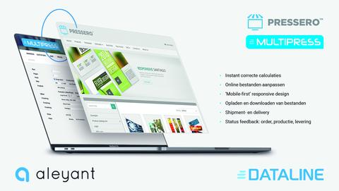 Aleyant joins Dataline Certified Partner Program with integration between Pressero storefront and MultiPress MIS/ERP software for print businesses