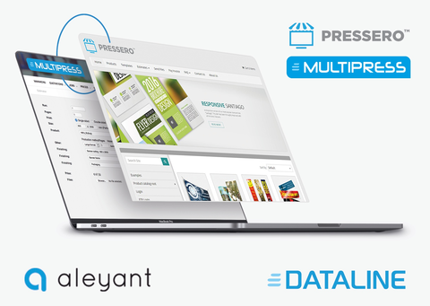 Aleyant tritt dem Dataline Certified Partner Program mit der Integration zwischen Pressero Storefront und MultiPress MIS/ERP-Software für Druckunternehmen bei