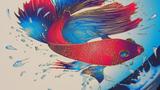 MGI JETVARNISH 3D Evolution print sample fish
