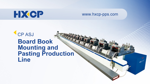HX ASJ Board Book Shaped Page Mounting and Pasting Production Line