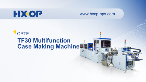 TF30 Multifunction Case Making Machine uses iPad remote control, servo driving, photoelectric detecting, visual positioning, mechanical arm and other new technologies as well. The TF30 Multifunction Case Making Machine can finish the processes of paper feeding, gluing, board feeding, positioning and four-side folding automatically with high accuracy, fast speed and high quality. It is the effective solution for customers of printing and packaging industry with short to long run volume production in producing the rigid box for wines, cigarettes, moon cakes, tea, mobile phones, underwear, handicrafts, and cosmetics etc., and also perfect on making file folders, calendars, and hardcover book case as well.