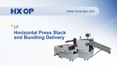 With the Horizontal Press Stack Delivery, own a high storage capacity for folded or bound products that is therefore particularly suitable for the processing of medium to large runs, the integrated pressing unit exhausts air to improves the folding quality, the Delivery combines with the Bundling Device, can setting the signature stack number, flapping the stack neat, then push to the bundling station, pressing and bundling the folded sheets (signatures), brochures, book blocks etc., with 3000N pressure, the Horizontal Press Stack and Bundling Delivery is fitting for industrial signature production, and is perfect for the next post-press production.