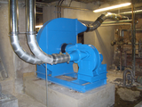Ventilators / shredding fans / adhesive steam extraction