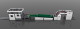 HIGH SPEED FLUTE LAMINATOR INLINE WITH STACKER