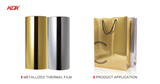 Premium Metalized Gold 25Mic PET Thermal Film