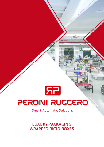 Peroni Ruggero - Machines for Rigid Boxes & Luxury packaging